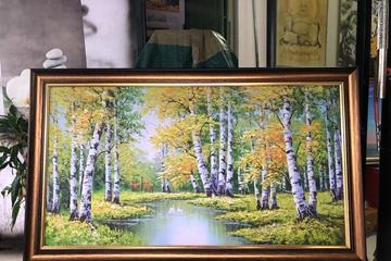 Những mẫu tranh phong cảnh đơn giản treo trong phòng khách