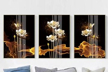 Top mẫu tranh hoa sen chuẩn đẹp với nhiều ý nghĩa, cách treo hút lộc tài