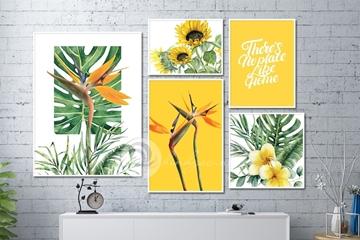 Top mẫu tranh treo tường hoa lá tươi xanh cho mùa hè nhiều năng lượng