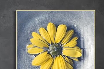 Tranh hoa cúc vàng -Ỹ nghĩa chúc sức khỏe dài lâu