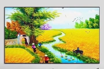 Ưu điểm của dòng tranh cánh đồng lúa bằng chất liệu canvas 2021