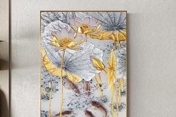 Ý nghĩa của tranh hoa sen treo tường - Quốc hoa của Việt Nam