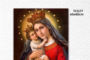 Ý nghĩa tranh Đức Mẹ Hằng Cứu Giúp, top tranh công giáo đẹp hot nhất 2021