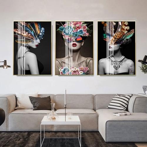 Bộ 3 tranh chân dung nghệ thuật cô gái