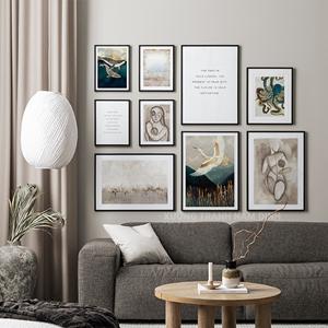 Set 9 tranh đại bàng và cá voi phong cách châu âu sang trọng