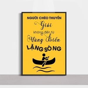 Slogan hay, người trèo thuyền giỏi