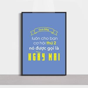 Slogan hay, cuộc sống luôn cho bạn cơ hội
