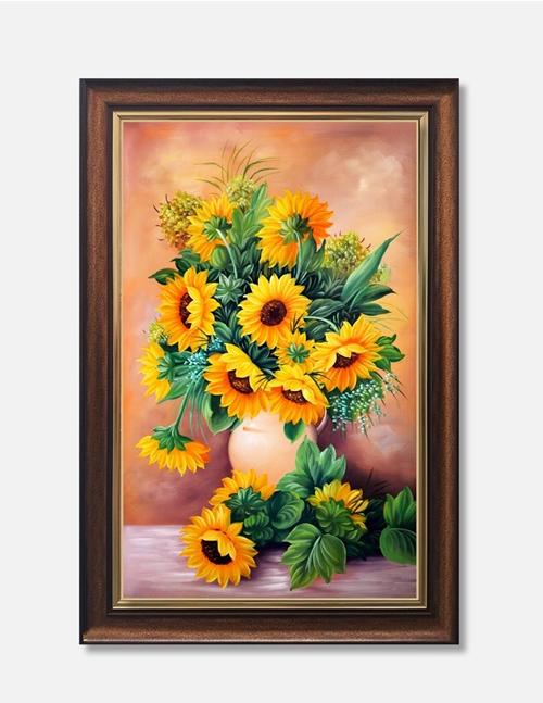 Tranh lọ hoa hướng dương, trang trí tường