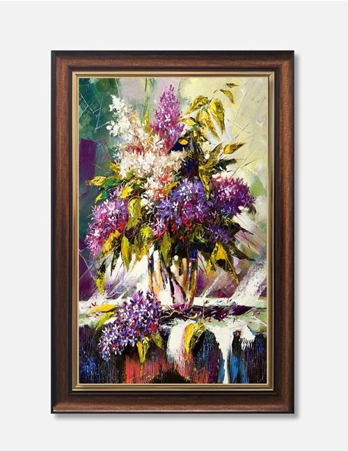 Tranh lọ hoa màu tím ấn tượng