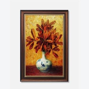 Tranh lọ hoa, cành lá vàng mùa thu