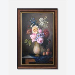 Tranh tĩnh vật lọ hoa hồng