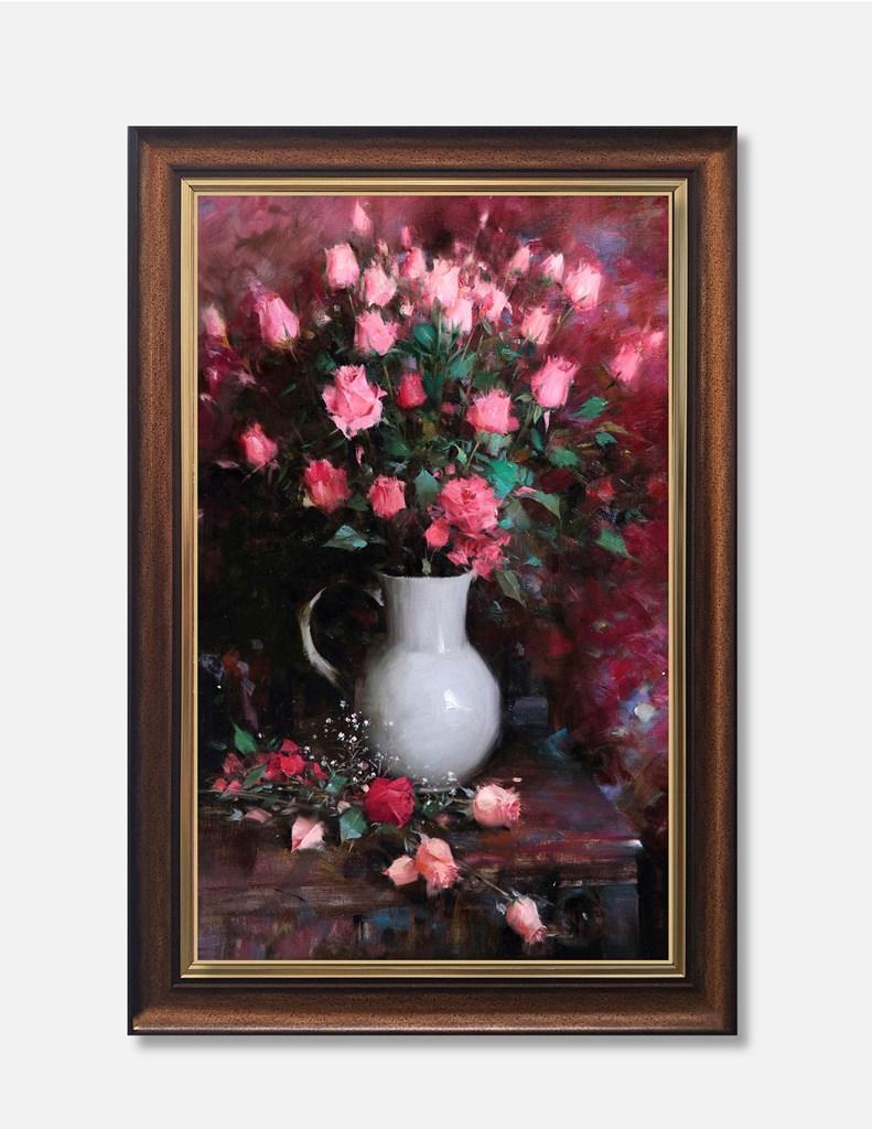 Tranh lọ hoa, những bông hoa hồng love