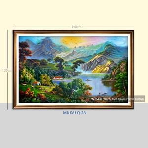 Tranh sơn thủy hữu tình, phong cảnh quê hương