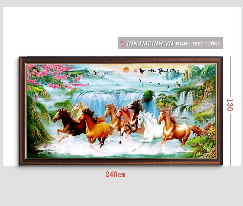 Tranh mã đáo thành công, tranh ngựa tuyệt đẹp