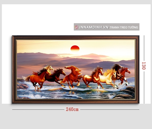 Tranh mã đáo thành công, ngựa phi tuyệt đẹp