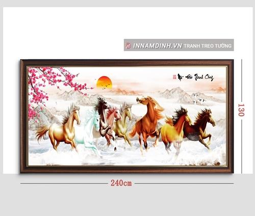 Tranh mã đáo thành công, ngựa và hoa đào