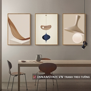 Bộ ba tranh trừu tượng line art