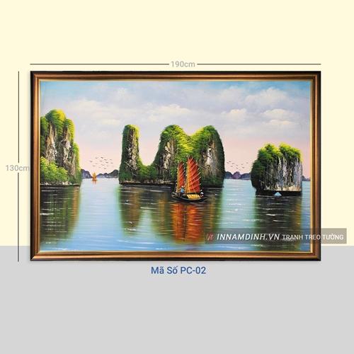Tranh phong cảnh thiên nhiên, sông nước và thuyền