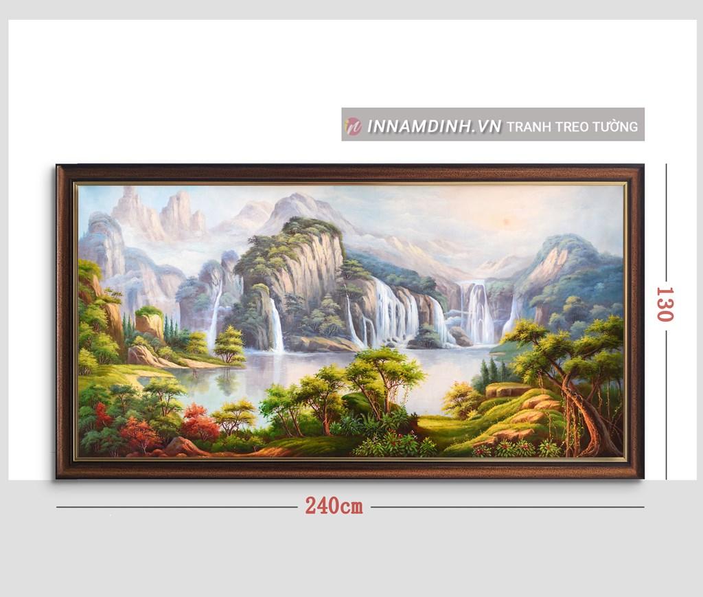 Tranh phong cảnh thiên nhiên, sông nước và rừng núi