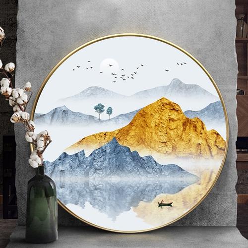 Tranh tròn, dãy núi trùng điệp trừu tượng