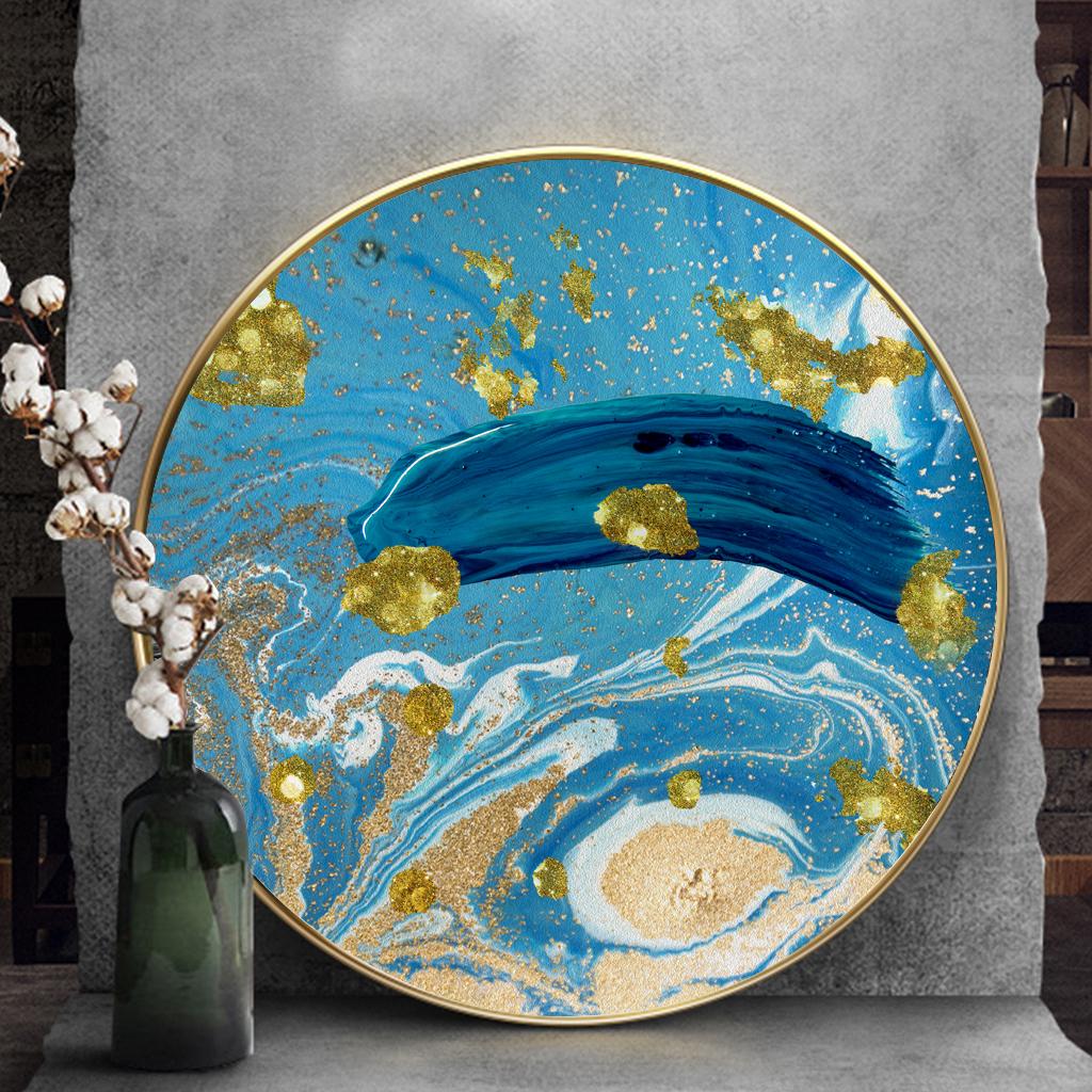 Tranh tròn, tranh trừu tượng sắc màu