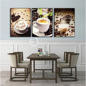 Tranh trang trí quán cà phê, bộ 3 bức