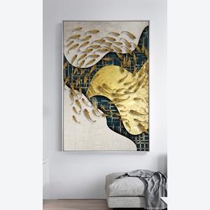 Tranh treo tường, đàn cá bơi nghệ thuật