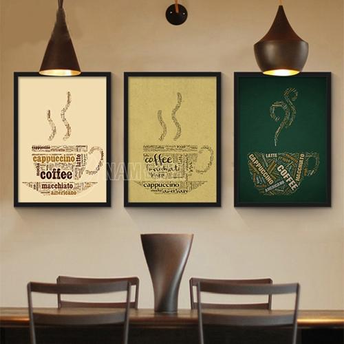 Tranh tách coffee xếp chữ