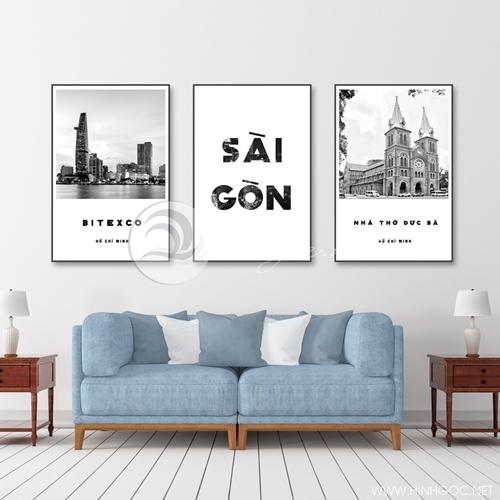 Tranh treo tường, phong cảnh Sài Gòn