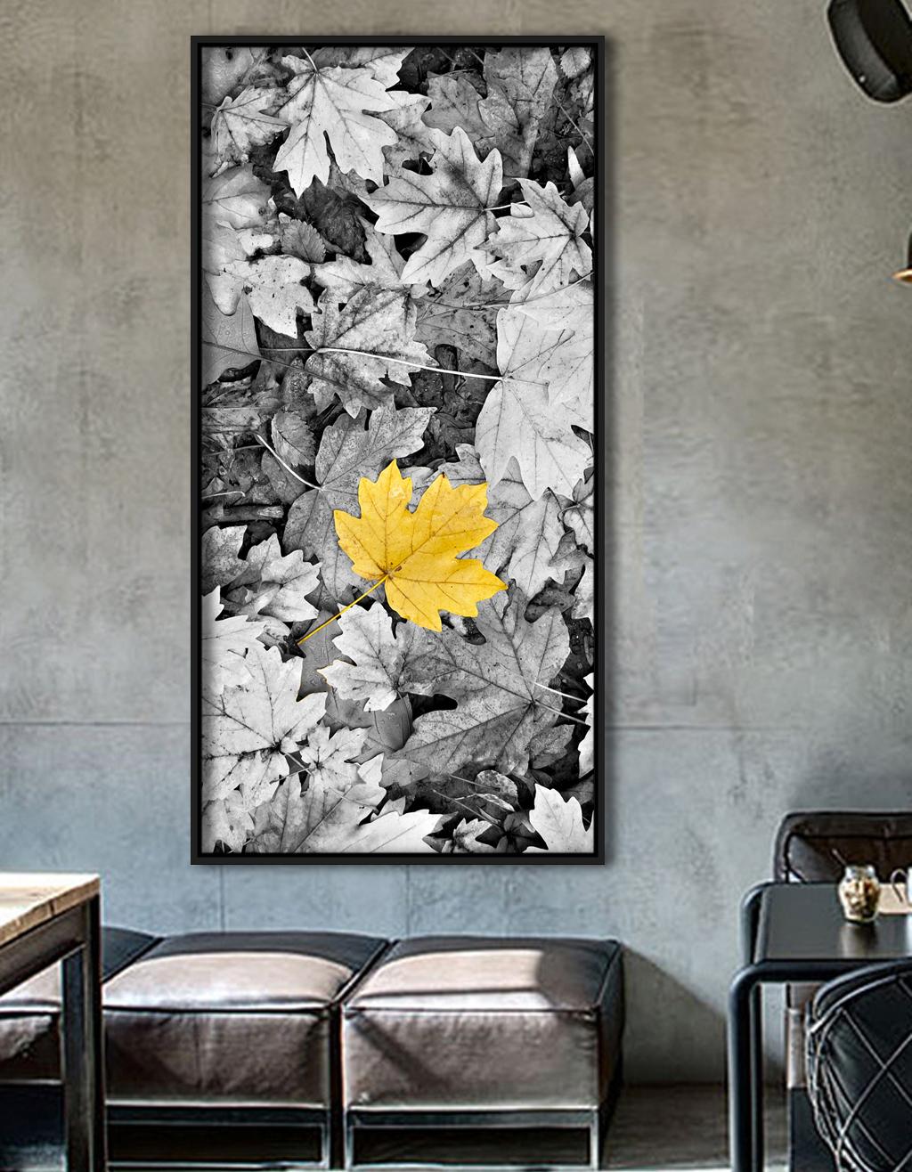 Tranh canvas hoa lá vàng mùa thu