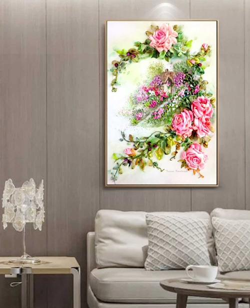 Tranh cành hoa nở đẹp ngát hương