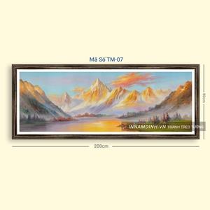 Tranh sơn thủy hữu tình những dãy núi trùng điệp