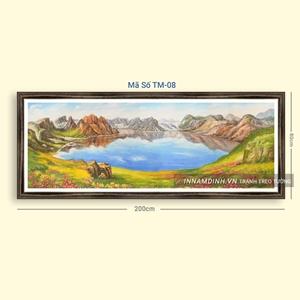 Tranh sơn thủy hữu tình núi non trên sông