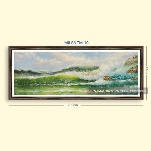 Tranh phong cảnh biển, sóng biển vỗ về