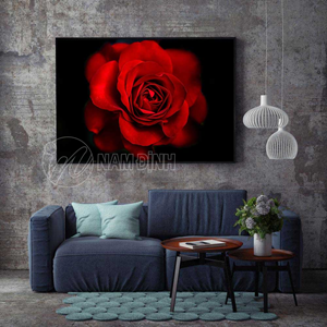 Tranh hoa hồng đỏ