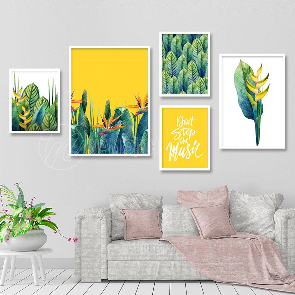 Bộ tranh lá cây nhiệt đới
