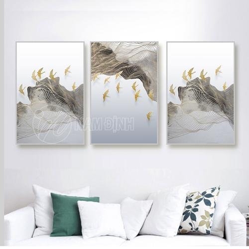 Trừu tượng đàn chim vàng