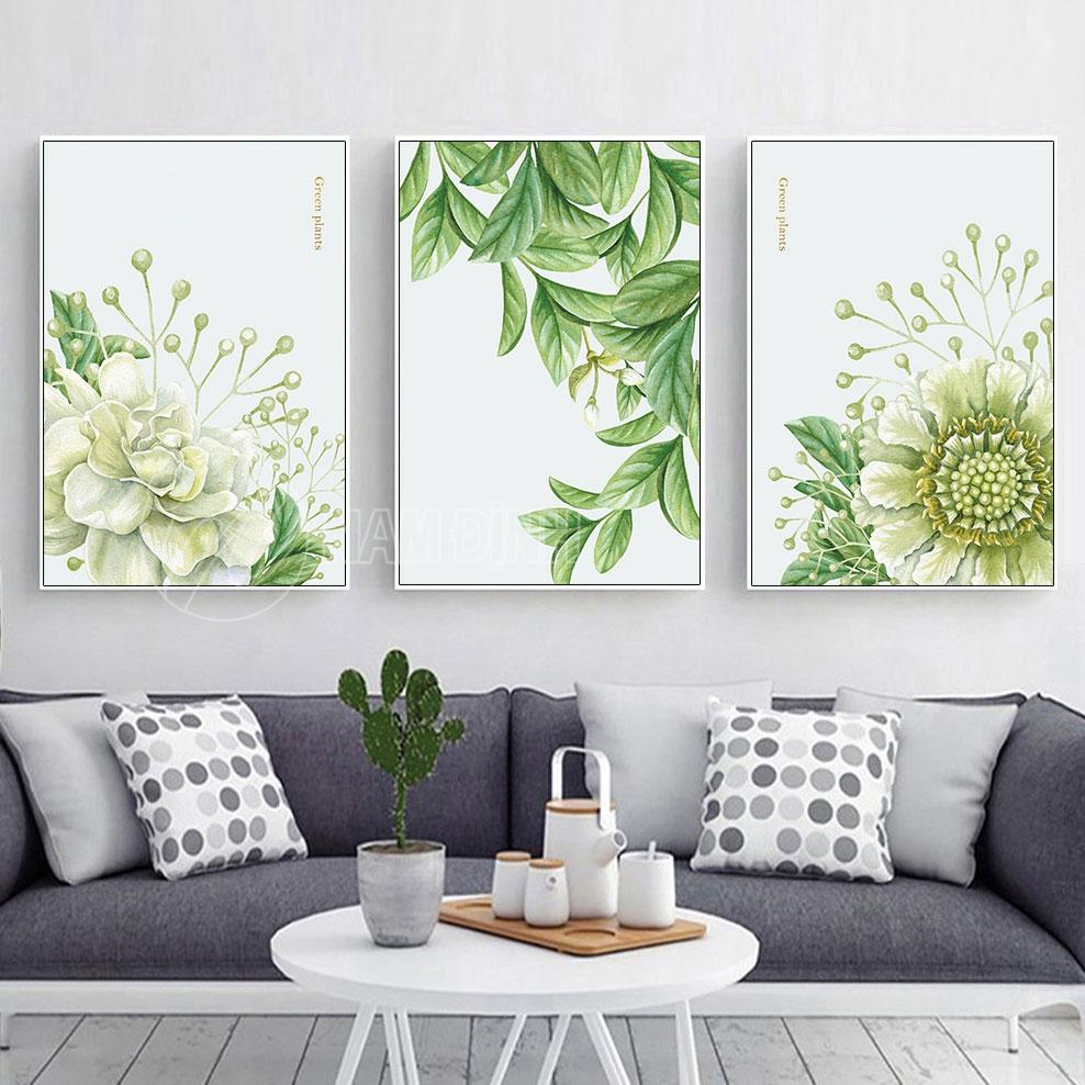 Bộ tranh hoa và lá