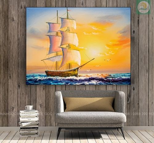 Tranh thuận buồm xuôi gió, bức tranh đẹp
