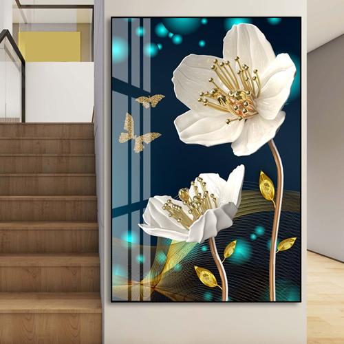 Tranh treo tường bông hoa trắng đẹp