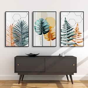 Bộ 3 tranh lá cây nhiệt đới
