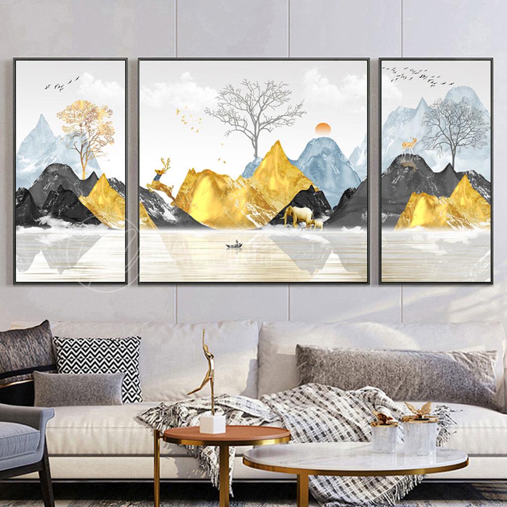 Phong cảnh núi vàng