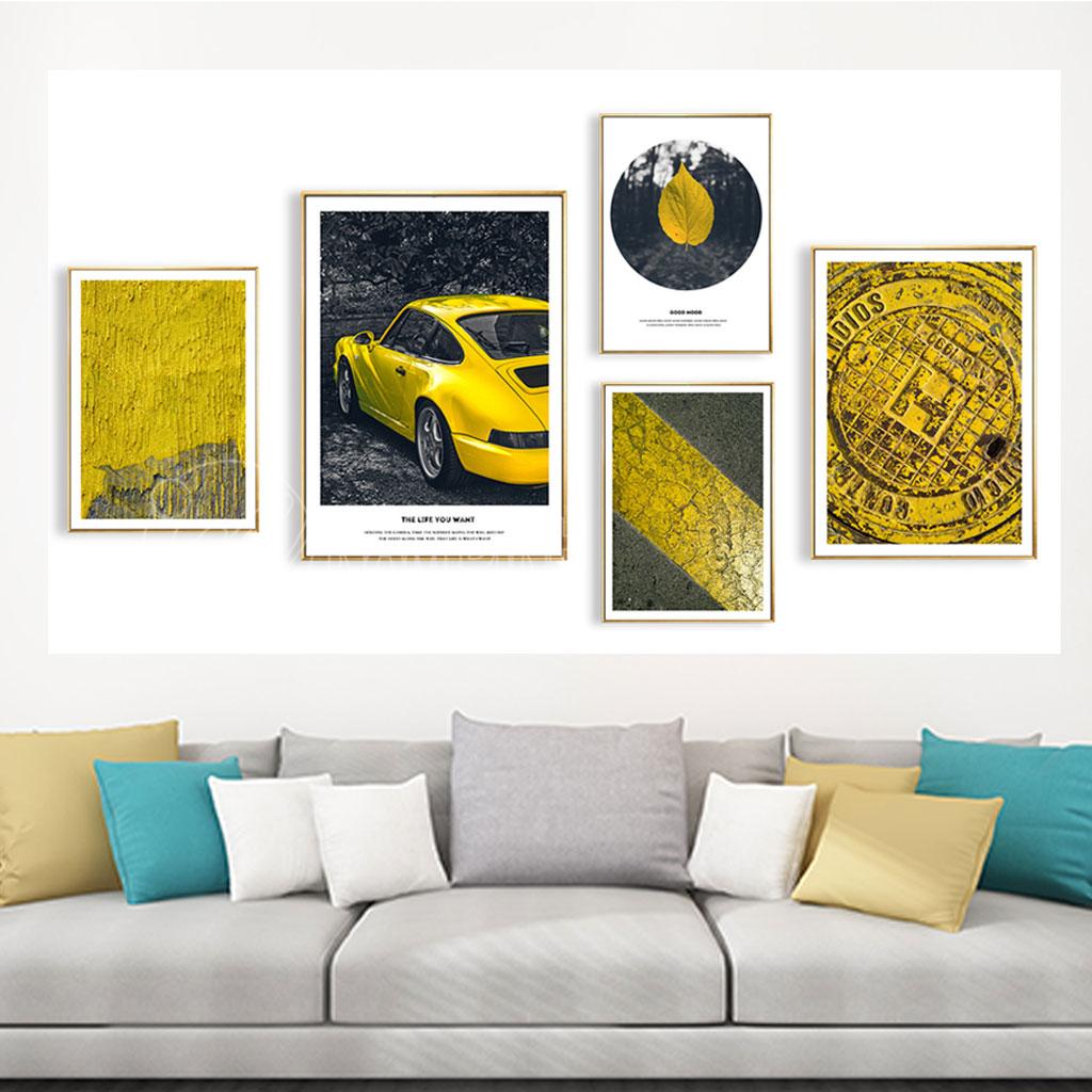 Tranh bộ xe vàng