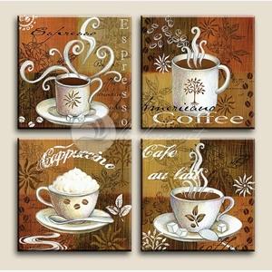 Tranh trang trí quán cà phê, bộ 4 bức