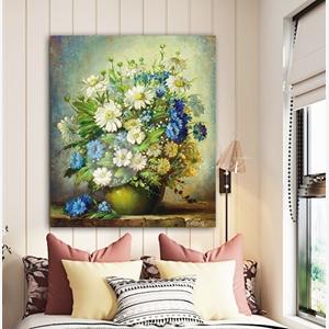 Tranh treo tường, tranh lọ hoa cúc