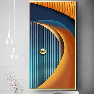 Tranh treo tường, quả cầu tròn và dải vân