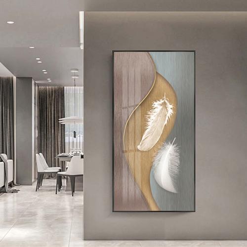 Tranh lông vũ,trang trí tường nghệ thuật