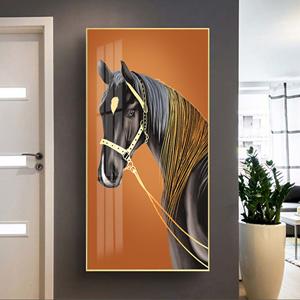 Tranh treo tường, con ngựa xám đẹp