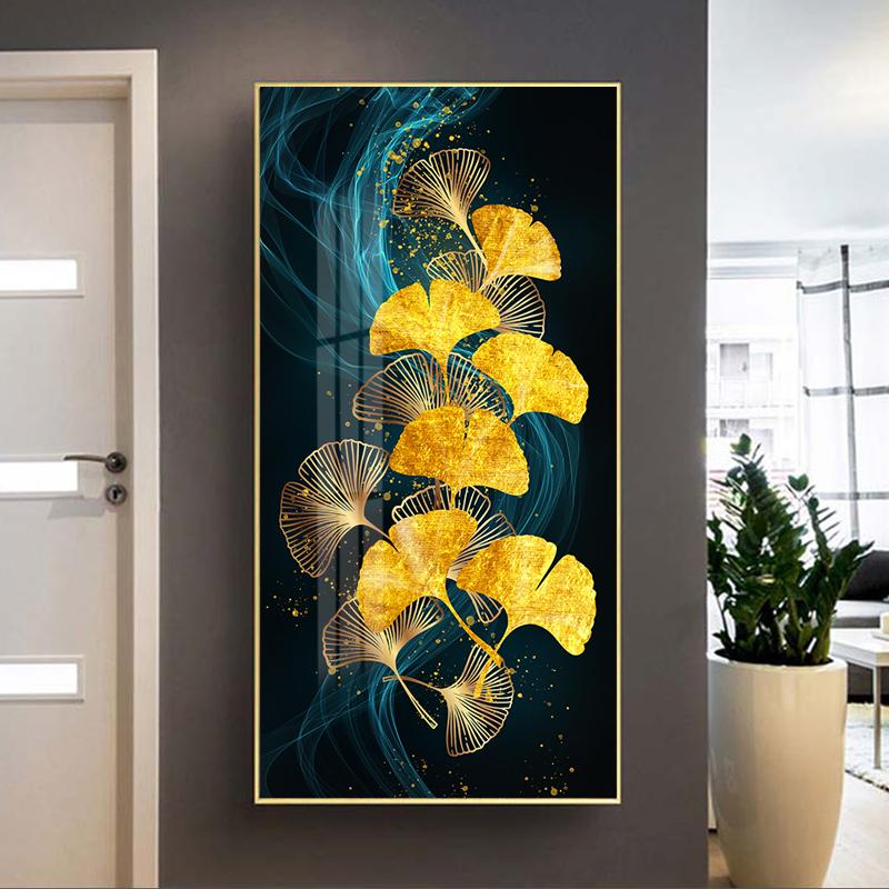 Tranh trừu tượng, chiếc lá vàng nghệ thuật