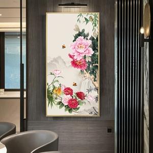 Tranh treo tường, tranh hoa mẫu đơn